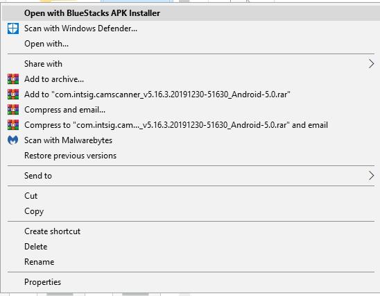 Bluestacks apk installer