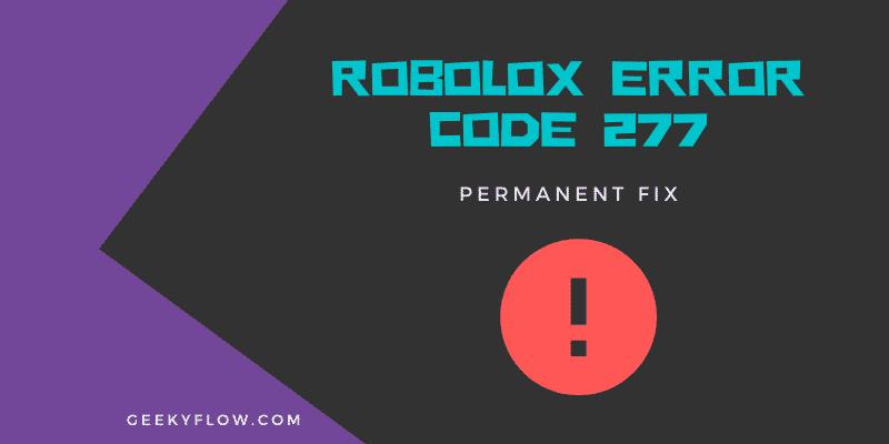 robolox Error Code 277