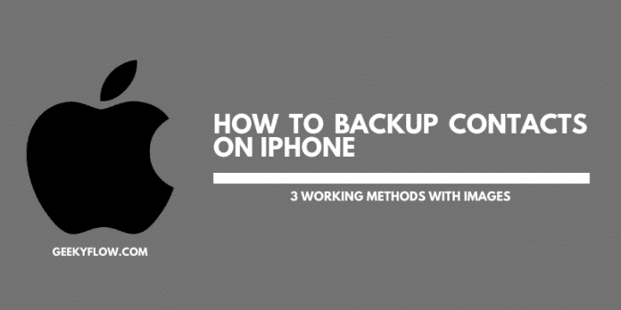 How to backup contacts on Iphone
