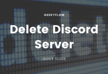 how to delete discord server