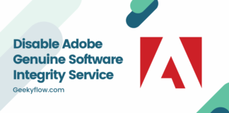Disable Adobe Genuine Software Integrity Service