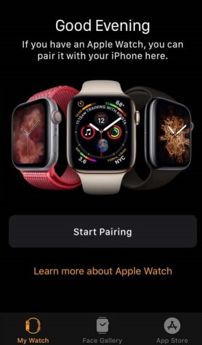 how to pair apple watch with new iphone